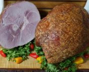 whole and half bone-in ham